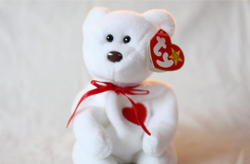 Most Expensive Beanie Babies - Valentino the Bear