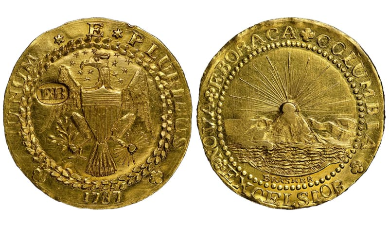 Most Expensive Coins - Brasher Doubloon (1787)