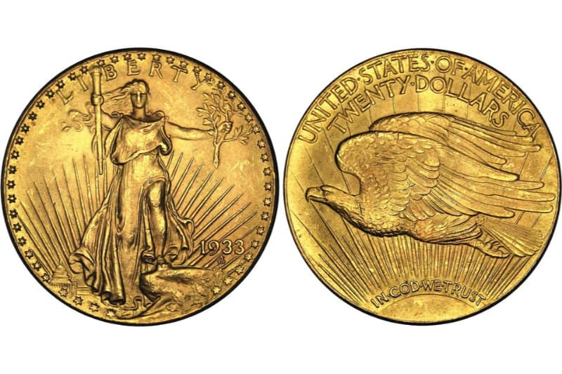 Most Expensive Coins - Double Eagle (1933)