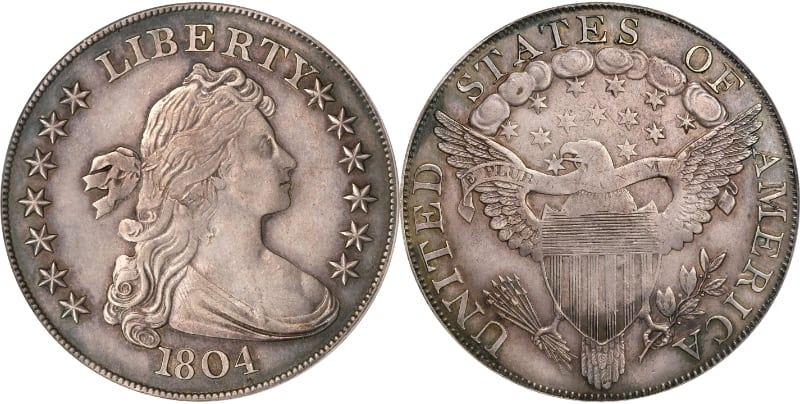 Most Expensive Coins - Silver Dollar Class 1 - 1804 - (The Watters-Childs Specimen)