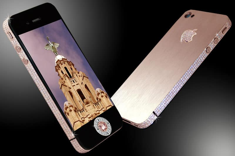 Most Expensive Phones Stuart Hughes iPhone 4 Diamond Rose Edition 800x533 - The 10 Most Expensive Phones in the World