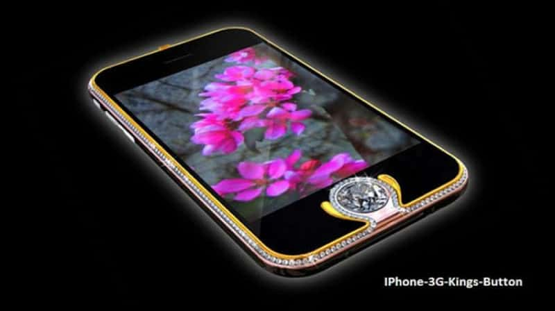 Most Expensive Phones iPhone 3G Kings Button 800x448 - The 10 Most Expensive Phones in the World