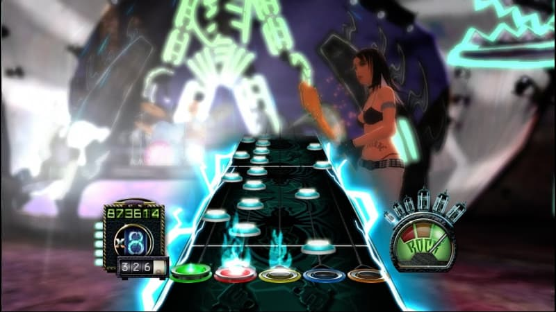 Hardest Video Game Levels - Through The Fire And Flames - Guitar Hero III- Legends of Rock