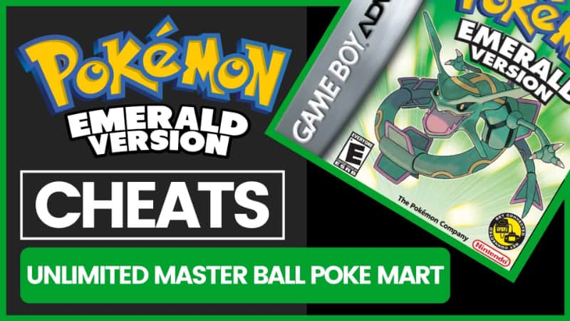 Pokemon Emerald Cheats - Unlimited Master Ball Poke Mart