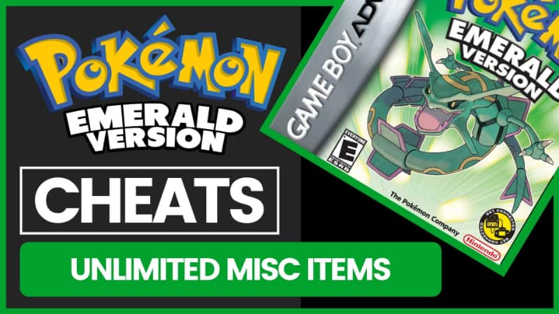 Pokemon Emerald Cheats - Unlimited Misc Items