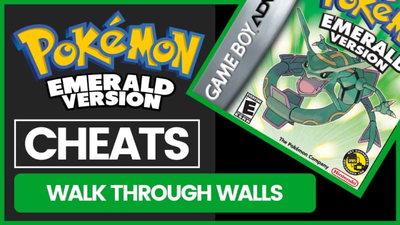 Pokemon Emerald Cheats - Walk Through Walls