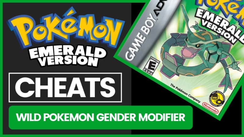 Pokemon Emerald Cheats - Wild Pokemon Gender Modifier