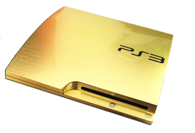 Rarest Video Games Consoles - 24K Gold-Dipped PlayStation 3