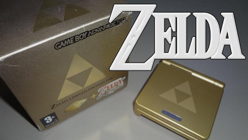 Rarest Video Games Consoles - Gold Legend of Zelda Game Boy Advance SP