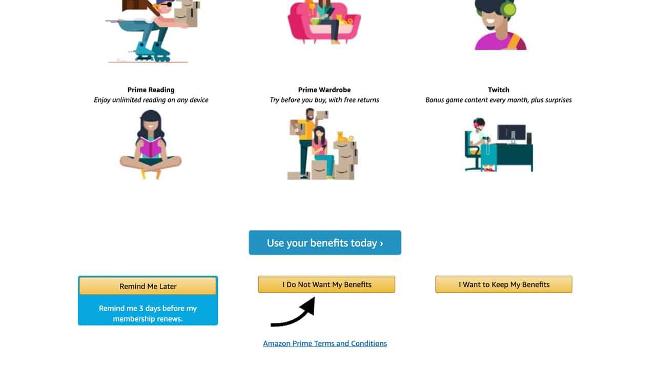 How to Cancel Amazon Prime - Step 4