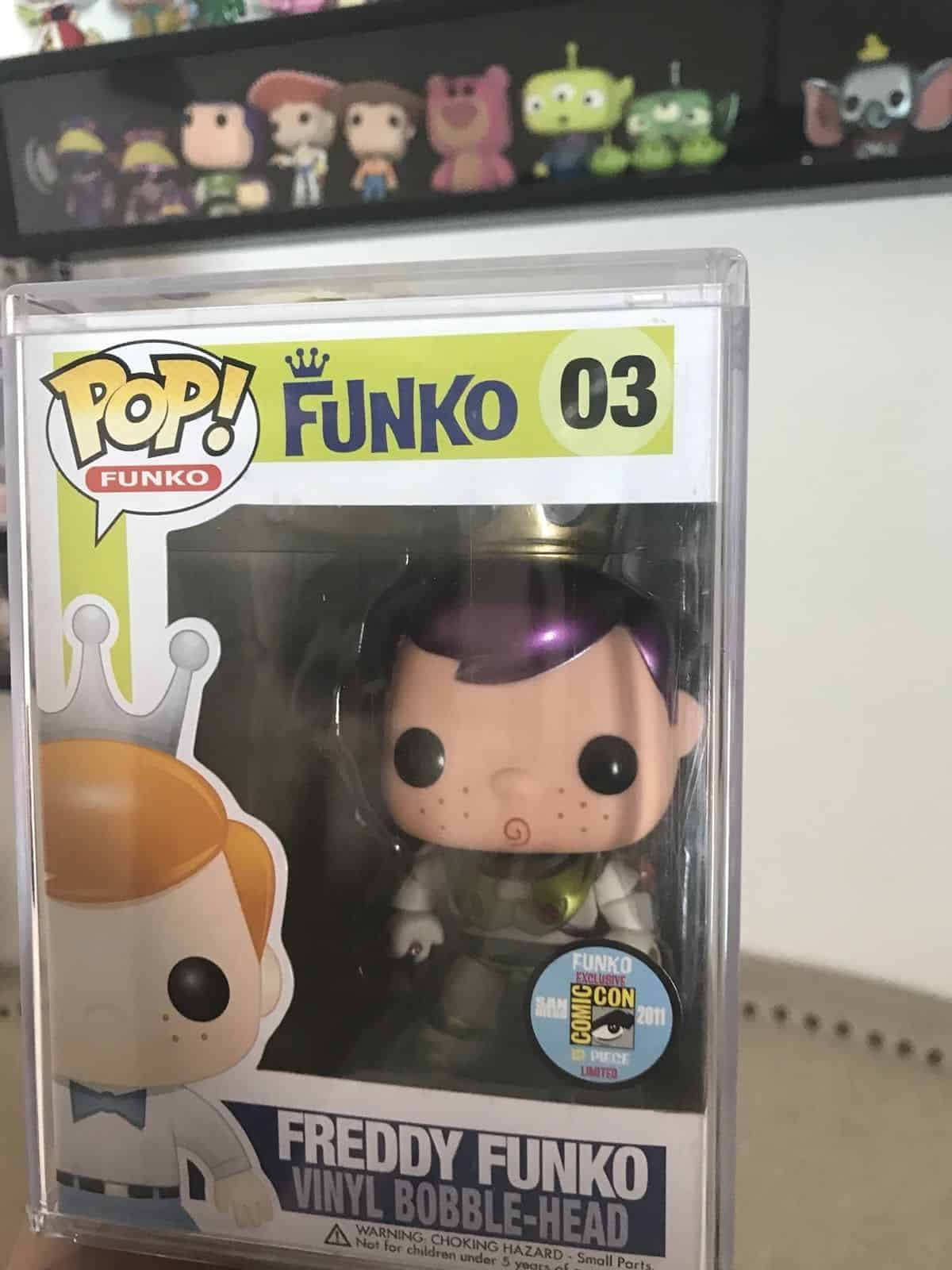 Most Expensive Funko Pops - Buzz Lightyear Freddy Funko Metallic