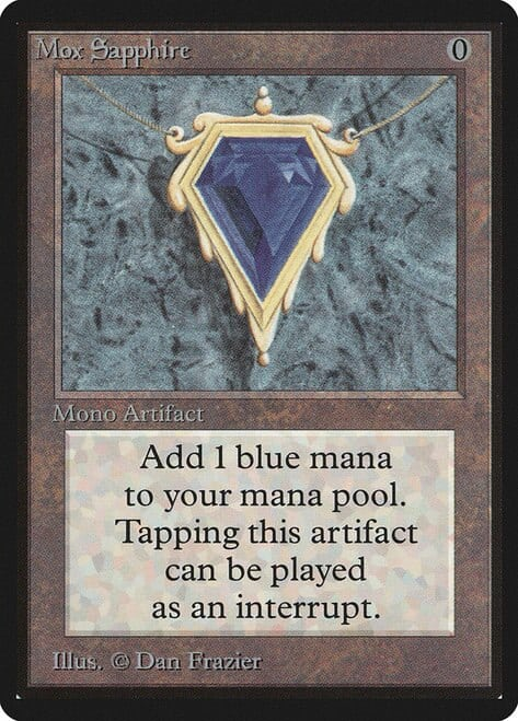 Most Expensive MTG Cards - Mox Sapphire