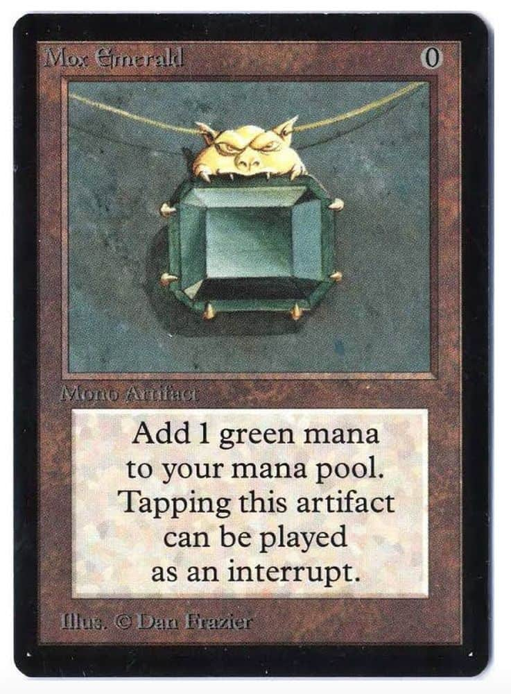 Most Expensive Magic The Gathering Cards - Mox Emerald