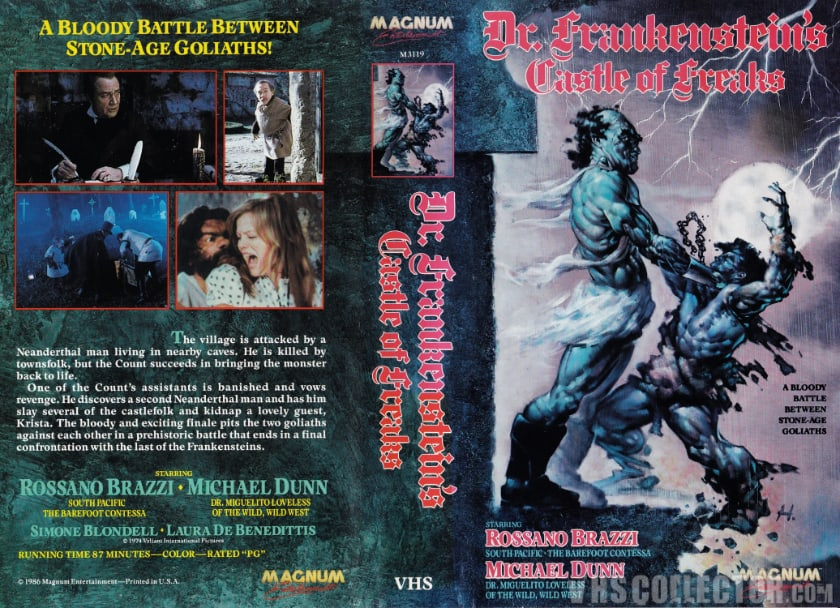 Most Expensive VHS Tapes - Frankenstein's Castle of Freaks