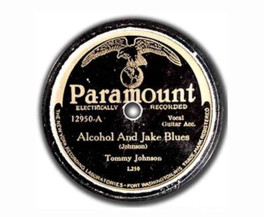 Most Expensive Vinyl Records - Tommy Johnson- 'Alcohol and Jake Blues'