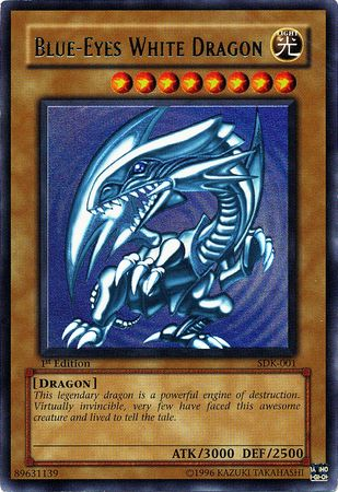 Most Expensive Yu Gi Oh! Cards - First Edition Blue-Eyes White Dragon