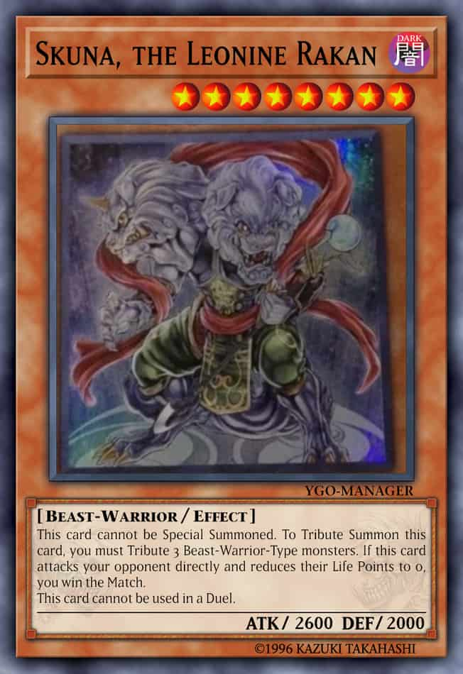 Most Expensive Yu Gi Oh! Cards - Skuna, The Leonine Rakan