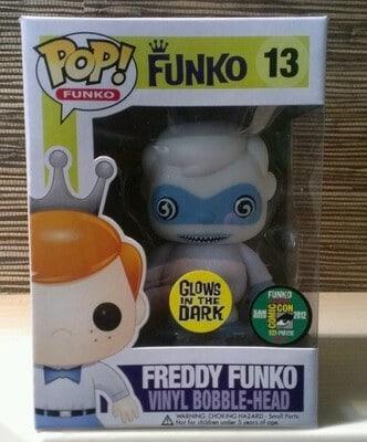Most Valuable Funko Pop Vinyls - Freddy Funko Bumble GITD