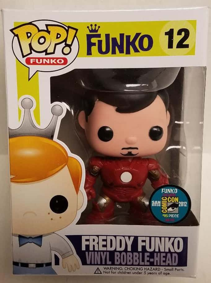 Most Valuable Funko Pop Vinyls - Tony Stark Freddy Funko (Metallic)