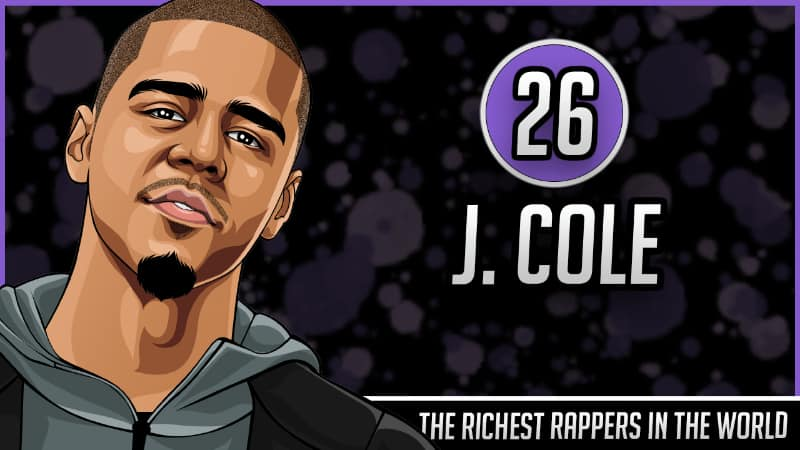 Richest Rappers in the World - J Cole