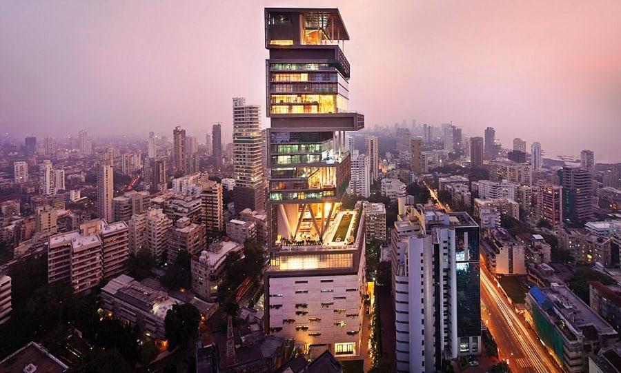Biggest Houses in the World - Antilia Tower, Mumbai, India